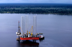 Stock photo of a jackup drilling rig