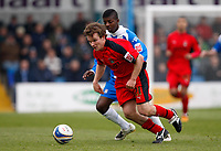 Photo: Richard Lane/Richard Lane Photography. <br /> Colchester United v Coventry City. Coca Cola Championship. 19/04/2008. City's Jay Tabb breaks from United's Medy Elito.