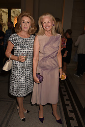 Lady Wolfson and Dame Theresa Sackler at the Balenciaga Shaping Fashion VIP Preview, The V&A Museum, London England. 24 May 2017.<br /> Photo by Dominic O'Neill/SilverHub 0203 174 1069 sales@silverhubmedia.com