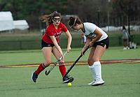 St Paul's School girls junior varsity Field Hockey with Proctor Academy.   ©2020 Karen Bobotas Photographer