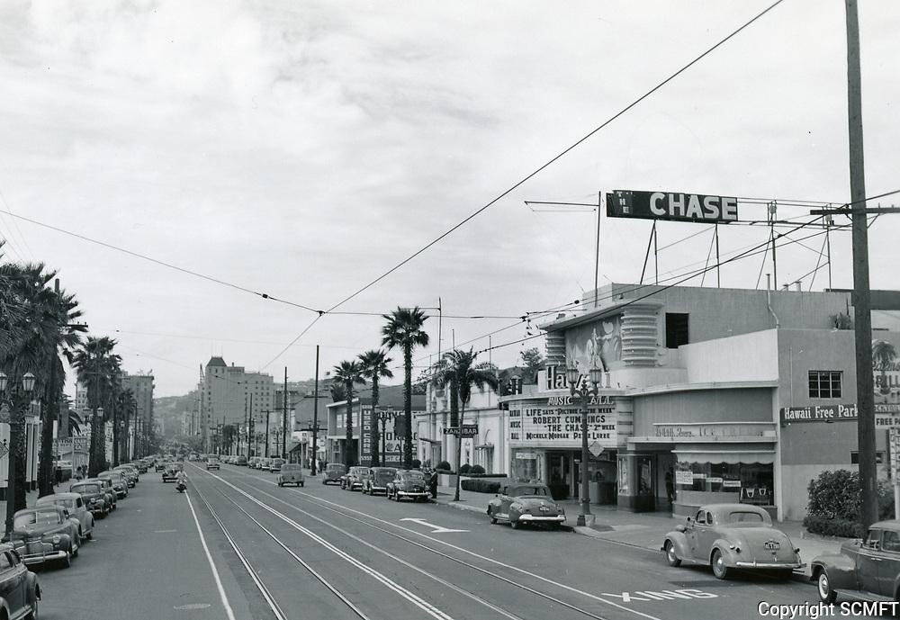 1946 Hawaii Theater on Hollywood Blvd.
