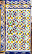 Decorative tiles on Nuzha mosque, Jaffa, Israel