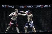Kampfsport: MMA, We love MMA, Oberhausen, 31.01.2015<br /> Hamed Gelitsch (Combat Club Cologne, r.) -  Shir Aslan Karimov (Fight Center Siegen)<br /> © Torsten Helmke