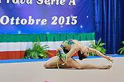 Elisa Todini atleta della società Polimnia Ritmica Romana durante la seconda prova del Campionato Italiano di Ginnastica Ritmica.<br /> La gara si è svolta a Desio il 31 ottobre 2015.