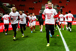 Andi Weimann as Bristol City wear special warm up shirts in tribute to the Afobe family following the passing of Benik Afobe's baby daughter Amora, aged 2 - Rogan/JMP - 10/12/2019 - Ashton Gate Stadium - Bristol, England - Bristol City v Milwall FC - Sky Bet Championship.