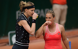 May 29, 2019 - Paris, FRANCE - Lucie Safarova of the Czech Republic playing her final career doubles match at the 2019 Roland Garros Grand Slam tennis tournament (Credit Image: © AFP7 via ZUMA Wire)