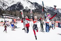 January 1, 2018 - Stockholm, Sweden - Heidi Weng, Ingvild Flugstad Östberg, Jessica Diggins. 10 km fristil, damer och 15 km fristil herrar. Tour de Ski, Lenzerheide (Credit Image: © Orre Pontus/Aftonbladet/IBL via ZUMA Wire)