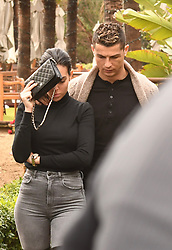 Ronaldo and his girlfriend Georgina Rodriguez celebrating Georgina's birthday at beach club in Marbella.Her birthday has yesterday. 28 Jan 2018 Pictured: Cristiano Ronaldo happybirthday of girlfriend Georgina Rodriguez. Photo credit: MEGA TheMegaAgency.com +1 888 505 6342
