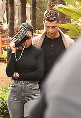 Ronaldo and his girlfriend Georgina Rodriguez celebrating Georgina's birthday - 28 Jan 2018