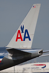 ©London News Pictures. American Airlines Boeing 777 at London Heathrow Airport. Photo credit should read Ian Schofield/London News Pictures