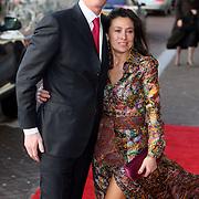 NLD/Amsterdam/20080201 - Verjaardagsfeest Koninging Beatrix en prinses Margriet, Marc Schröder en partner