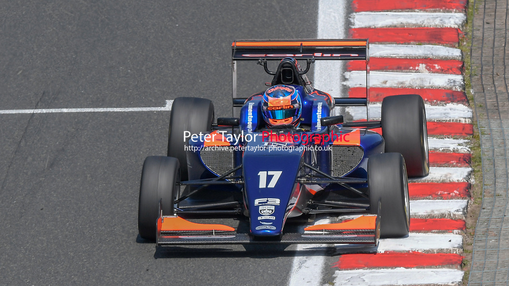 #17 Clement NOVALAK (GBR) Carlin  during British F3 Championship as part of the British F3 / GT Championship at Oulton Park, Little Budworth, Cheshire, United Kingdom. April 19 2019. World Copyright Peter Taylor/PSP. Copy of publication required for printed pictures.