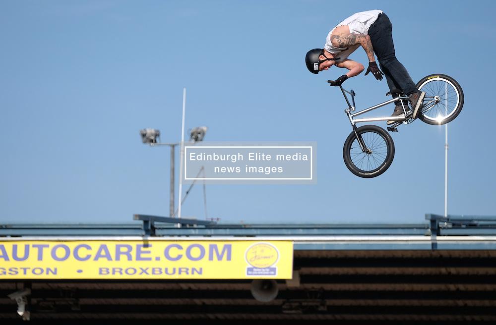 Nitro Circus Live, Livingston, Saturday 4th June 2016<br /> <br /> Tricks were performed by cyclists<br /> <br /> (c) Alex Todd | Edinburgh Elite media
