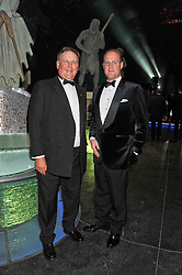 Left to right, LORD FINK and DAVID JOHNSTONE at The Global Party held at The Natural History Museum, Cromwell Road, London on 8th September 2011.