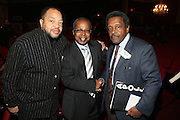 l to r: Leslie Wych, Charles Mitchell, and Kwame Brathwaite at the Apollo Theater 75th Birthday Celebration Press Conference announcing its special anniversary programming across Harlem, New York, and the Nation.