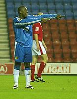Photo Aidan Ellis.<br /> Wigan Athletic v Crewe Alexandra.<br /> <br /> <br /> Coca-Cola Championship.<br /> <br /> <br /> 19/10/2004.<br /> Wigan's Nathan Ellington celebrates scoring the teams second goal