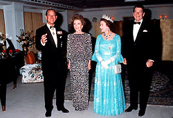 QUEEN ELIZABETH II AND PRINCE PHILIP, THE DUKE OF EDINBURGH ON BRITANNIA WITH US PRESIDENT RONALD REAGAN AND HIS WIFE NANCY REAGAN IN 1983. EXPA Pictures © 2016, PhotoCredit: EXPA/ Photoshot/ Anwar Hussein<br /> <br /> *****ATTENTION - for AUT, SLO, CRO, SRB, BIH, MAZ, SUI only*****