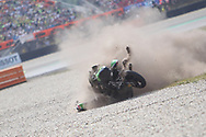 #40 Darryn BINDER RSA CIP Green Power KTM crashes during the Motul Dutch TT MotoGP, TT Circuit, Assen, Netherlands on 30 June 2019.