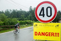 Sign for danger during Stage 3 of 22nd Tour of Slovenia 2015 from Dobrovnik to Slovenska Bistrica, Trije Kralji (178,5 km) cycling race  on June 20, 2015 in Slovenia. Photo by Vid Ponikvar / Sportida