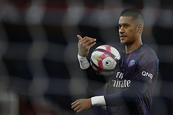 November 2, 2018 - Paris, Ile-de-France, France - Alphonse Areola attends the soccer match game between PSG and Lille at the Parc de Prince, in Paris, France. On November 2, 2018. (Photo by Mehdi Taamallah / Nurphoto) (Credit Image: © Mehdi Taamallah/NurPhoto via ZUMA Press)