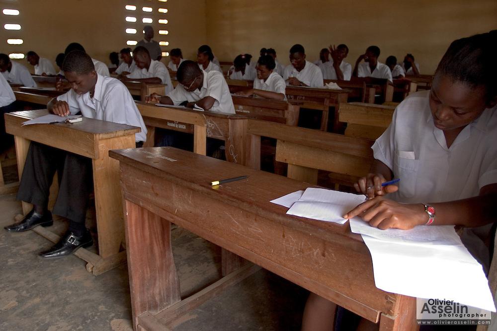 Liberian refugees in classroom at Buduburam refugee camp, 35 km west of Accra, Ghana.