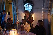 ANRI SALA; THEASTER GATES; CAROLYN CHRISTOV-BAKARGIEV; ;  , Absolut Art Bureau cocktails and dinner to celebrate the announcement of the 2013 Absolut Art Award shortlist. Bauer Hotel, San Marco. Venice. Venice Bienalle. 28 May 2013