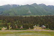 Remote cabins and lodges in Lake Clark National Park, Alaska.