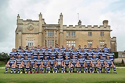 The Bath Rugby squad pose for a portrait at the Bath Rugby media day - Photo mandatory by-line: Patrick Khachfe/JMP - Mobile: 07966 386802 28/08/2014 - SPORT - RUGBY UNION - Bath - Farleigh House - Bath Rugby Media Day