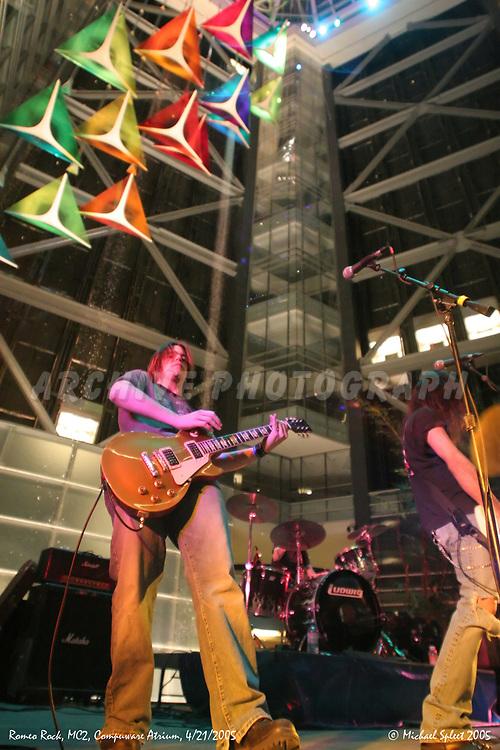 DETROIT, MI, FRIDAY, APRIL 22, 2005 : Romeo Rock, Motor City Music Conference, Tommy Furbacher at Compuware Atrium, Detroit, MI, 04/22/2005.  (Image Credit: Michael Spleet / 2SnapsUp Photography)