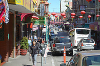 GV, general view, Chinatown, San Francisco, California, USA, 201304131435<br /> <br /> Copyright Image from Victor Patterson, 54 Dorchester Park, Belfast, UK, BT9 6RJ<br /> <br /> Tel: +44 28 9066 1296<br /> Mob: +44 7802 353836<br /> Voicemail +44 20 8816 7153<br /> Skype: victorpattersonbelfast<br /> Email: victorpatterson@me.com<br /> Email: victorpatterson@ireland.com (back-up)<br /> <br /> IMPORTANT: If you wish to use this image or any other of my images please go to www.victorpatterson.com and click on the Terms & Conditions. Then contact me by email or phone with the reference number(s) of the image(s) concerned.