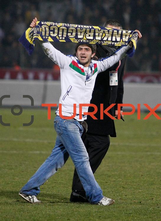 MKE Ankaragucu's supporters during their Turkish Superleague soccer match Ankaragucu between Besiktas at the 19 Mayis stadium in Ankara Turkey on Sunday 08 January 2012. Photo by TURKPIX