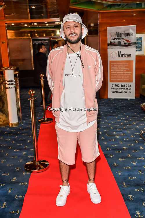 ManLikeHaks attend the Driving holiday experience hosts yacht party at The Sunborn Yacht, Royal Victoria Dock on 31 May 2019, London, UK.
