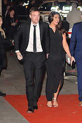 © Licensed to London News Pictures. 14/12/2016. JAMIE VARDY and wife REBEKAH VARDY attend The Sun newspaper Millies Military Awards 2016 at Guildhall <br />