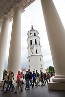 06.2014 Wilno Litwa Plac Katedralny N/z dzwonnica katedralna fot Michal Kosc / AGENCJA WSCHOD