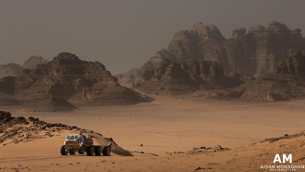 THE MARTIAN<br /> Mars' Acidalia Planitia, a vast plain in the Martian northern hemisphere. <br /> Location: Wadi Rum, Jordan