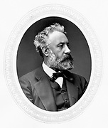 Jules Verne (1828-1905) French adventure and science fiction writer. Photograph published London  c1880.  Woodburytype.