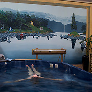 Taranaki Thermal Spa incorporating the historic Tarawhata Mineral Baths. The artesian mineral well is modern healing waters facility with 29,000 year-old water. Also housing bodywork, beauty, spas, sauna  and boutique organic hair studio. Alkaline mineral water bottled at source are available to purchase on-site.  Bonithon Avenue, New Plymouth, New Zealand. 20th December 2010.  Photo Tim Clayton.