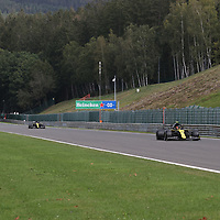 28.08.2020, Circuit de Spa-Francorchamps, Spa-Franchorchamps, FORMULA 1 ROLEX BELGIAN GRAND PRIX 2020<br />  , im Bild<br /> Esteban Ocon (FRA#31), Renault DP World F1 Team, Daniel Ricciardo (AUS#3), Renault DP World F1 Team<br /> <br /> Foto © nordphoto / Bratic