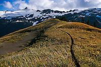 Trail, Alpine Ridge, Mt. Baker Wilderness Area, Washington State, Fall, Clouds