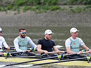 Putney, London, Varsity, 4th April 2019, Cambridge outing with a revised crew No.5 changed  Tandam Rig bow side 6 and7 Oxford Cambridge Media week, Championship Course,<br /> [Mandatory Credit: Patrick WHITE], Thursday,  04/04/2019, left to right, No.4 Dara ALIZADEH,  No.5 ????? <br />  No. 6 Sam HOOKWAY,