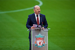 LIVERPOOL, ENGLAND - Friday, October 13, 2017: Liverpool chief executive officer Peter Moore at a ceremony to rename Liverpool FC's Centenary Stand the Kenny Dalglish Stand. (Pic by David Rawcliffe/Propaganda)