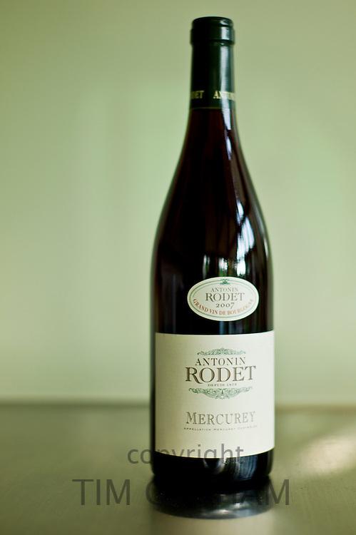 Bottle of Grand Vin de Bourgogne, Antonin Rodet Mercurey 2007