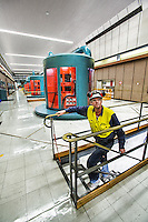 Poatina Power Station, Tasmania. Gentech Matthew Howard in the machine room. Photo By Craig Sillitoe This photograph can be used for non commercial uses with attribution. Credit: Craig Sillitoe Photography / http://www.csillitoe.com<br /> <br /> It is protected under the Creative Commons Attribution-NonCommercial-ShareAlike 4.0 International License. To view a copy of this license, visit http://creativecommons.org/licenses/by-nc-sa/4.0/.
