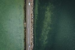 THEMENBILD - Strassenverkehr auf der Landstrasse D75 umringt vom Wasser der Adria und der Einmündung des Flusses Mirna, aufgenommen am 03. Juli 2020 in Novigrad, Kroatien // Road traffic on the road D75 surrounded by the Water of the Adriatic Sea and the Mirna river confluence in Novigrad, Croatia on 2020/07/03. EXPA Pictures © 2020, PhotoCredit: EXPA/ JFK