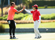 Israel Dagg and Dr. Haruhisa Handa, Chairman of the International Sports Promotion Society (ISPS HANDA), during the Pro-Am Golf Tournament run before the ISPS Handa NZ Women's Open held at Clearwater Golf Course. 11 February 2016. Photo: Joseph Johnson / www.photosport.nz
