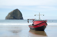 Dory boat in Pacific City, OR