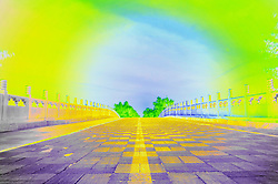July 20, 2017 - Beijing, Beijing, China - Beijing, CHINA-July 20 2017: (EDITORIAL USE ONLY. CHINA OUT) ..Infrared photography of Chaoyang Park in Beijing. (Credit Image: © SIPA Asia via ZUMA Wire)