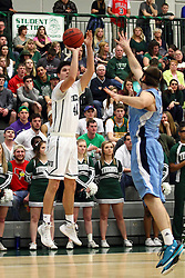20 February 2016:  Alec Bausch(40) during an NCAA men's division 3 CCIW basketball game between the Elmhurst Bluejays and the Illinois Wesleyan Titans in Shirk Center, Bloomington IL