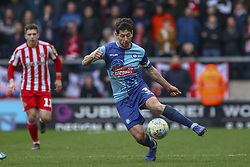 March 9, 2019 - High Wycombe, Buckinghamshire, United Kingdom - Wycombe's Yves Ma-Kalambay on the ball during the Sky Bet League 1 match between Wycombe Wanderers and Sunderland at Adams Park, High Wycombe, England  on Saturday 9th March 2019. (Credit Image: © Mi News/NurPhoto via ZUMA Press)