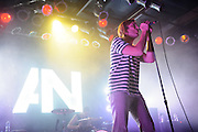 Awolnation frontman Aaron Bruno performing at Pop's in Sauget, IL on January 21, 2012.